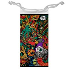 Monsters Colorful Doodle Jewelry Bag
