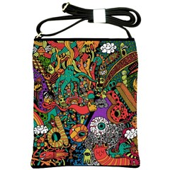 Monsters Colorful Doodle Shoulder Sling Bags by Nexatart