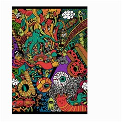 Monsters Colorful Doodle Large Garden Flag (two Sides)