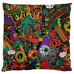 Monsters Colorful Doodle Large Cushion Case (two Sides)