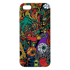 Monsters Colorful Doodle Apple Iphone 5 Premium Hardshell Case