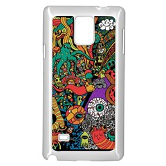 Monsters Colorful Doodle Samsung Galaxy Note 4 Case (white) by Nexatart