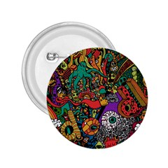 Monsters Colorful Doodle 2 25  Buttons by Nexatart