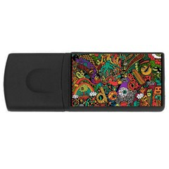 Monsters Colorful Doodle Usb Flash Drive Rectangular (4 Gb) by Nexatart
