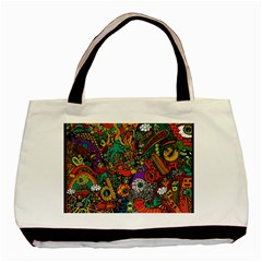 Monsters Colorful Doodle Basic Tote Bag by Nexatart