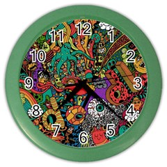 Monsters Colorful Doodle Color Wall Clocks