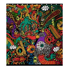 Monsters Colorful Doodle Shower Curtain 66  X 72  (large)  by Nexatart