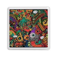 Monsters Colorful Doodle Memory Card Reader (square)  by Nexatart
