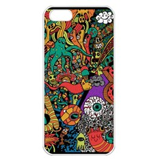 Monsters Colorful Doodle Apple Iphone 5 Seamless Case (white)