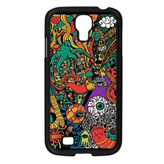 Monsters Colorful Doodle Samsung Galaxy S4 I9500/ I9505 Case (black) by Nexatart