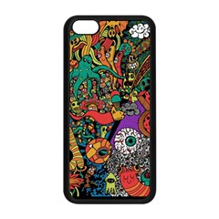 Monsters Colorful Doodle Apple Iphone 5c Seamless Case (black) by Nexatart