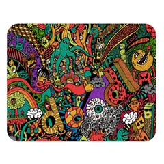 Monsters Colorful Doodle Double Sided Flano Blanket (large)  by Nexatart
