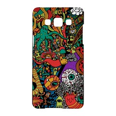 Monsters Colorful Doodle Samsung Galaxy A5 Hardshell Case  by Nexatart