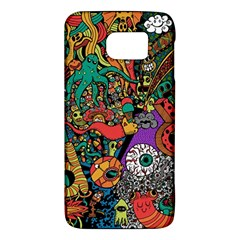 Monsters Colorful Doodle Galaxy S6 by Nexatart