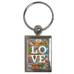 Doodle Art Love Doodles Key Chains (rectangle)