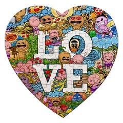 Doodle Art Love Doodles Jigsaw Puzzle (heart) by Nexatart
