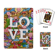 Doodle Art Love Doodles Playing Card