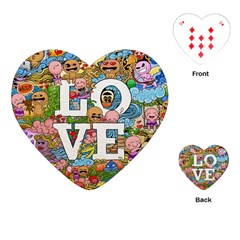 Doodle Art Love Doodles Playing Cards (heart)