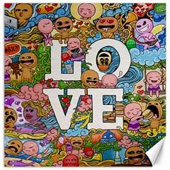 Doodle Art Love Doodles Canvas 16  X 16   by Nexatart