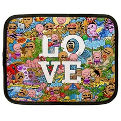 Doodle Art Love Doodles Netbook Case (large) by Nexatart