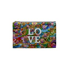 Doodle Art Love Doodles Cosmetic Bag (small)  by Nexatart