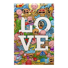 Doodle Art Love Doodles Shower Curtain 48  X 72  (small)