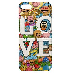 Doodle Art Love Doodles Apple Iphone 5 Hardshell Case With Stand by Nexatart