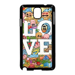 Doodle Art Love Doodles Samsung Galaxy Note 3 Neo Hardshell Case (black)