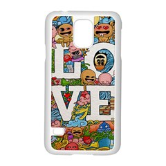 Doodle Art Love Doodles Samsung Galaxy S5 Case (white) by Nexatart