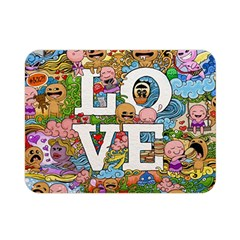 Doodle Art Love Doodles Double Sided Flano Blanket (mini)