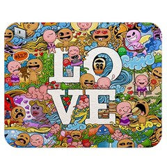Doodle Art Love Doodles Double Sided Flano Blanket (medium)  by Nexatart