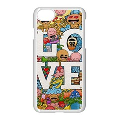 Doodle Art Love Doodles Apple Iphone 7 Seamless Case (white)