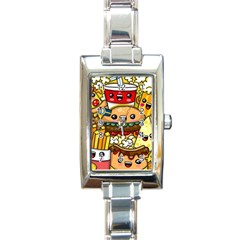 Cute Food Wallpaper Picture Rectangle Italian Charm Watch