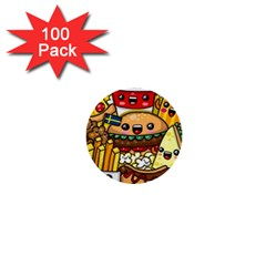 Cute Food Wallpaper Picture 1  Mini Buttons (100 Pack)