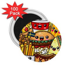 Cute Food Wallpaper Picture 2 25  Magnets (100 Pack)