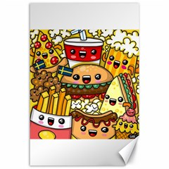 Cute Food Wallpaper Picture Canvas 24  X 36  by Nexatart