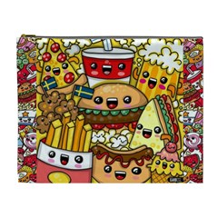 Cute Food Wallpaper Picture Cosmetic Bag (xl) by Nexatart