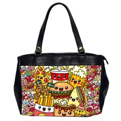Cute Food Wallpaper Picture Office Handbags (2 Sides)  by Nexatart