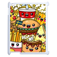 Cute Food Wallpaper Picture Apple Ipad 2 Case (white) by Nexatart
