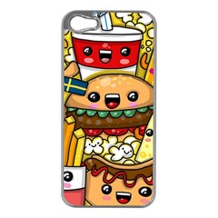 Cute Food Wallpaper Picture Apple Iphone 5 Case (silver)