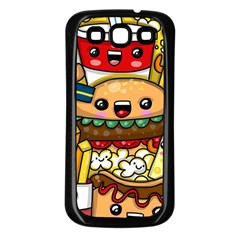 Cute Food Wallpaper Picture Samsung Galaxy S3 Back Case (black) by Nexatart