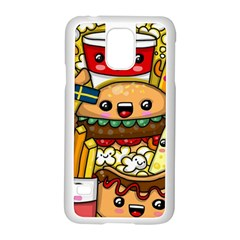 Cute Food Wallpaper Picture Samsung Galaxy S5 Case (white) by Nexatart