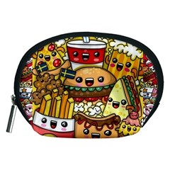 Cute Food Wallpaper Picture Accessory Pouches (medium)