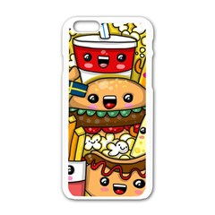Cute Food Wallpaper Picture Apple Iphone 6/6s White Enamel Case by Nexatart