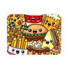 Cute Food Wallpaper Picture Double Sided Flano Blanket (mini)  by Nexatart