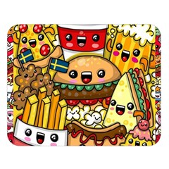 Cute Food Wallpaper Picture Double Sided Flano Blanket (large)  by Nexatart