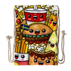 Cute Food Wallpaper Picture Drawstring Bag (large) by Nexatart