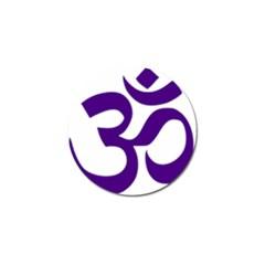 Hindu Om Symbol (purple) Golf Ball Marker (10 Pack) by abbeyz71