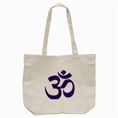 Hindu Om Symbol (purple) Tote Bag (cream) by abbeyz71
