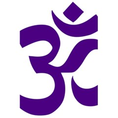 Hindu Om Symbol (purple) 5 5  X 8 5  Notebooks by abbeyz71